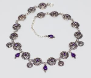 Granulated amethyst necklace ZAPP