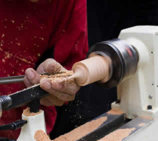 lathe wood turning